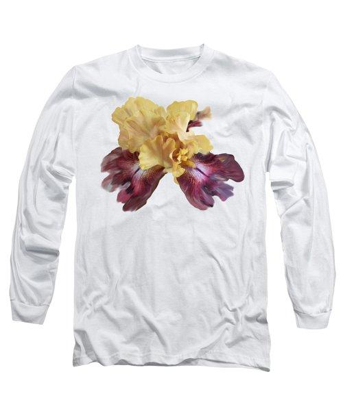 Iris T Shirt Long Sleeve T-Shirt by Nancy Pauling