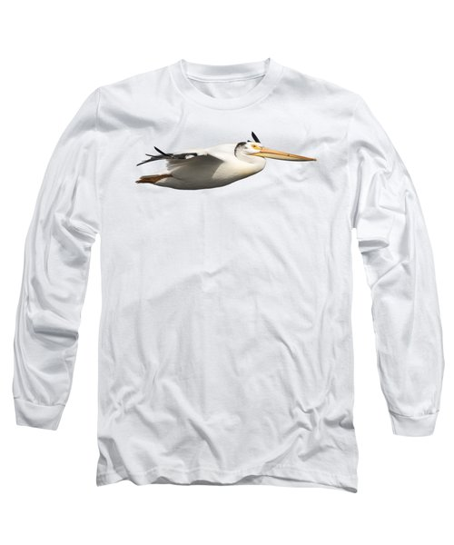 Isolated Pelican 2016-1 Long Sleeve T-Shirt by Thomas Young