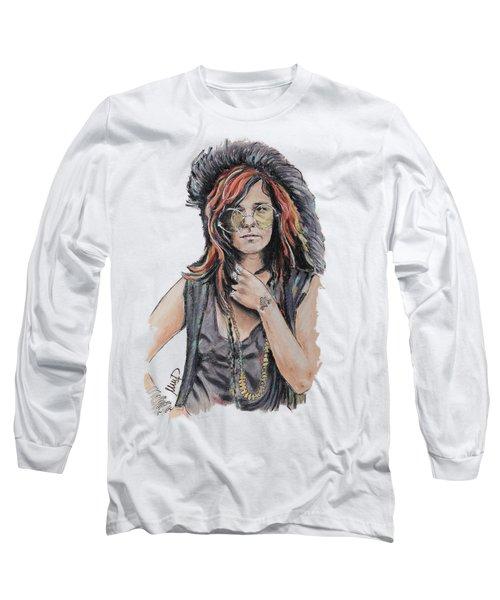 Janis Joplin Long Sleeve T-Shirt by Melanie D