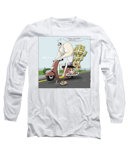 Jim's Shopping Trip Long Sleeve T-Shirt by Kris Burton-Shea