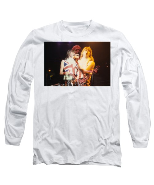 Joe And Phil Of Def Leppard Long Sleeve T-Shirt by Rich Fuscia