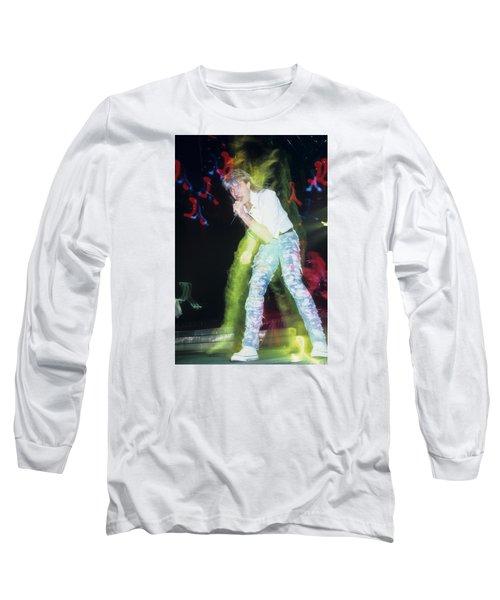 Joe Elliott Of Def Leppard Long Sleeve T-Shirt by Rich Fuscia