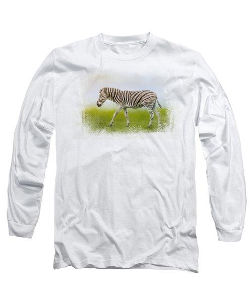 Journey Of The Zebra Long Sleeve T-Shirt by Jai Johnson