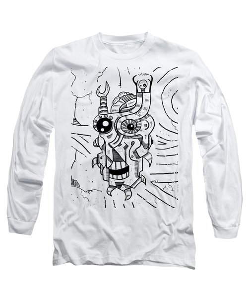 Killer Robot Long Sleeve T-Shirt by Erki Schotter
