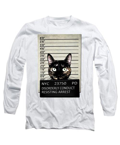 Kitty Mugshot Long Sleeve T-Shirt by Nicklas Gustafsson