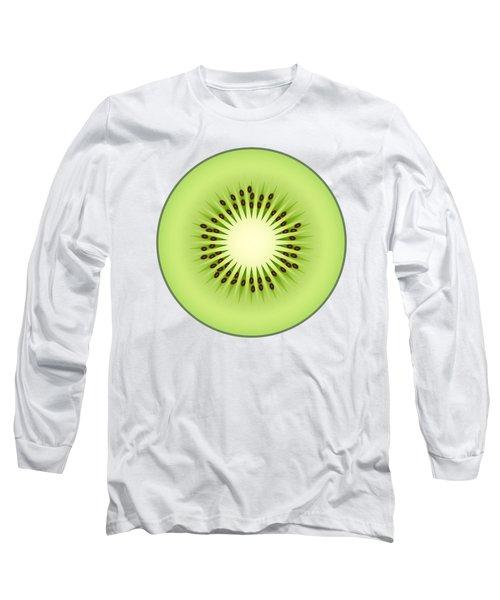 Kiwi Fruit Long Sleeve T-Shirt by Miroslav Nemecek