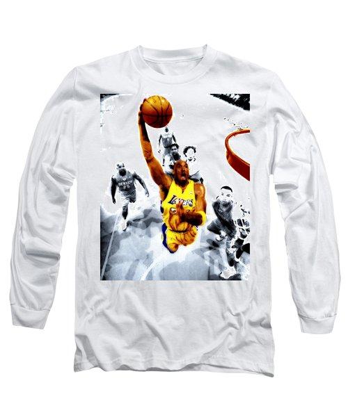 Kobe Bryant Took Flight Long Sleeve T-Shirt by Brian Reaves