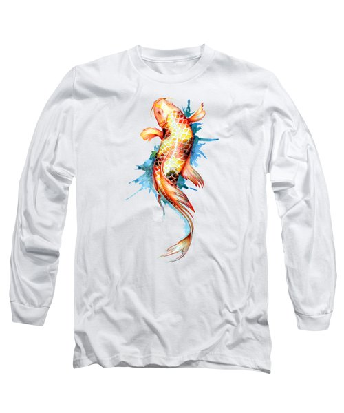 Koi Fish I Long Sleeve T-Shirt by Sam Nagel