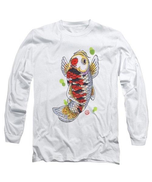 Koi Fish Long Sleeve T-Shirt by Shih Chang Yang