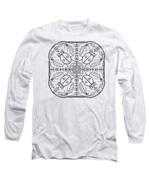 Ladybug Mandala Long Sleeve T-Shirt by Tanya Provines