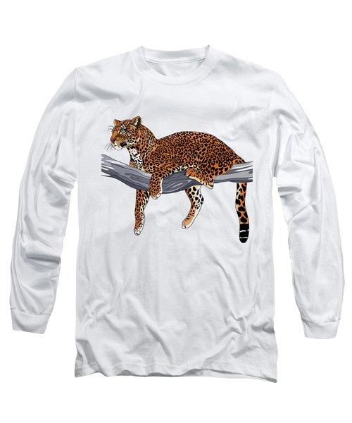 Leopard Long Sleeve T-Shirt by Alexandra Panaiotidi