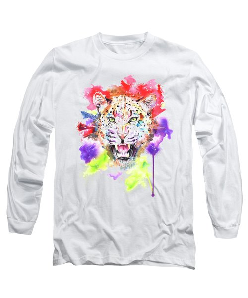 Leopard Long Sleeve T-Shirt by Isabel Salvador