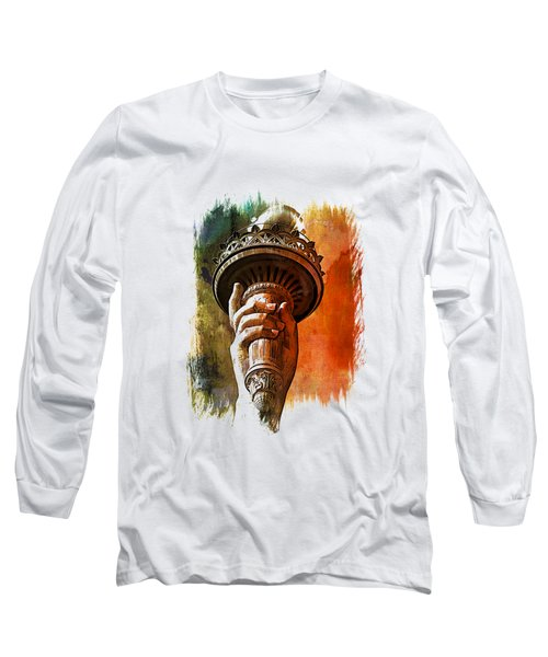 Light The Path Art 1 Long Sleeve T-Shirt by Di Designs