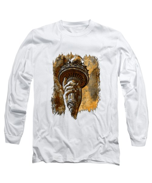 Light The Path Earthy 3 Dimensional Long Sleeve T-Shirt by Di Designs