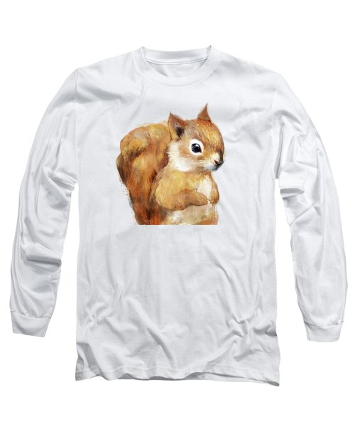 Little Squirrel Long Sleeve T-Shirt by Amy Hamilton