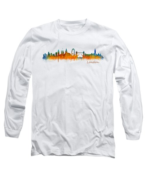 London City Skyline Hq V2 Long Sleeve T-Shirt by HQ Photo
