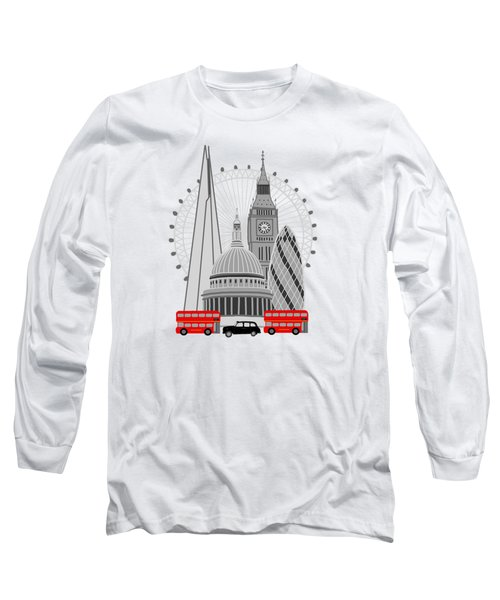 London Scene Long Sleeve T-Shirt by Imagology Design