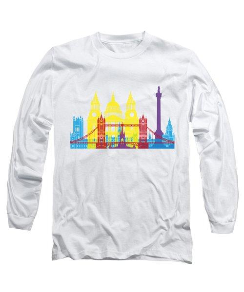 London Skyline Pop Long Sleeve T-Shirt by Pablo Romero