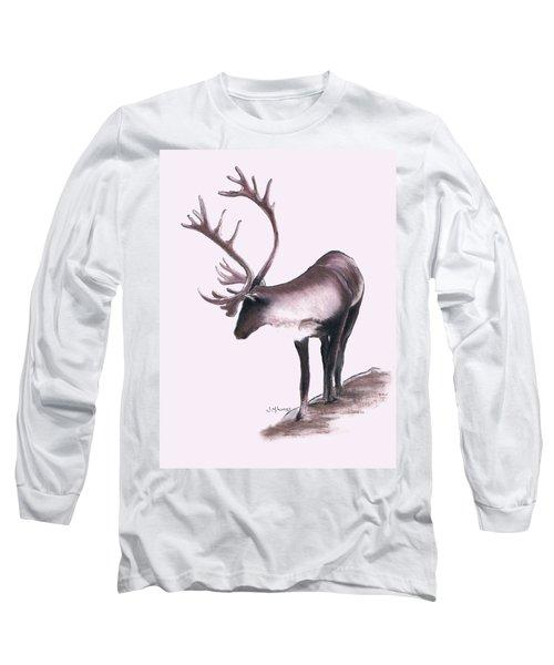 Lone Caribou Long Sleeve T-Shirt by Jane M Lucas