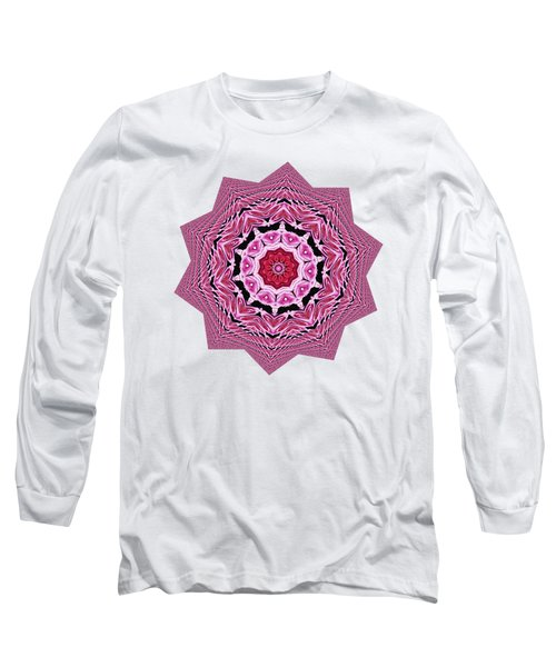 Loving Rose Mandala By Kaye Menner Long Sleeve T-Shirt by Kaye Menner