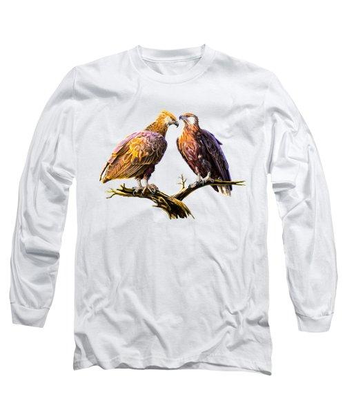 Madagascar Fish Eagle  Long Sleeve T-Shirt by Anthony Mwangi