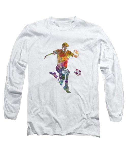 Man Soccer Football Player 09 Long Sleeve T-Shirt by Pablo Romero