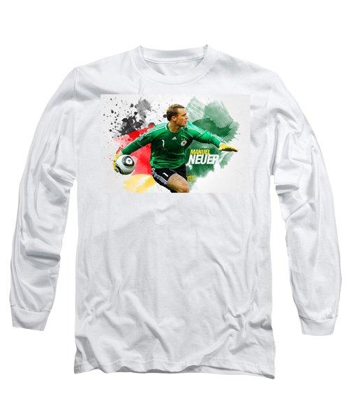 Manuel Neuer Long Sleeve T-Shirt by Semih Yurdabak