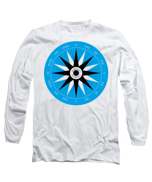 Mariner's Compass Long Sleeve T-Shirt by Frank Tschakert
