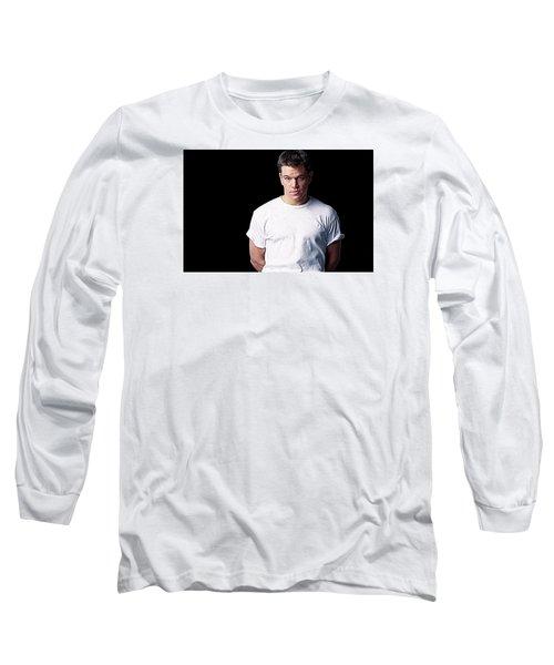 Matt Damon Long Sleeve T-Shirt by Iguanna Espinosa