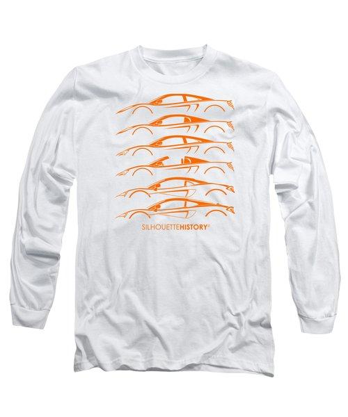 Mcsportscar Silhouettehistory Long Sleeve T-Shirt by Gabor Vida
