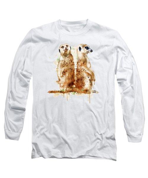 Meerkats Long Sleeve T-Shirt by Marian Voicu