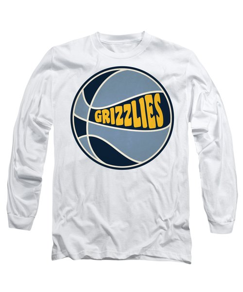 Memphis Grizzlies Retro Shirt Long Sleeve T-Shirt by Joe Hamilton