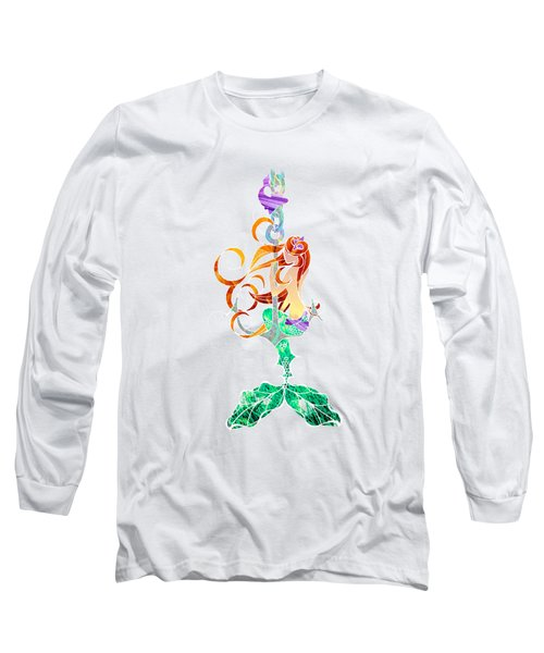 Mermaid Long Sleeve T-Shirt by Aubrey Hittle