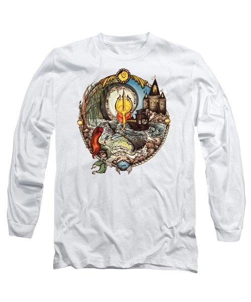 Mermaid Part Of Your World Long Sleeve T-Shirt by Cat Dolch