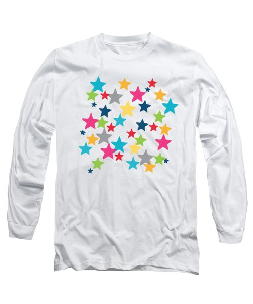 Messy Stars- Shirt Long Sleeve T-Shirt by Linda Woods