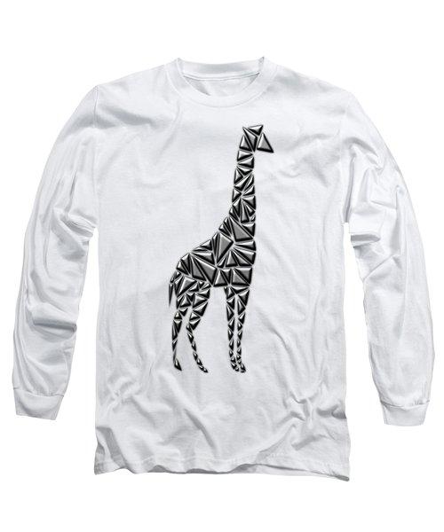 Metallic Giraffe Long Sleeve T-Shirt by Chris Butler