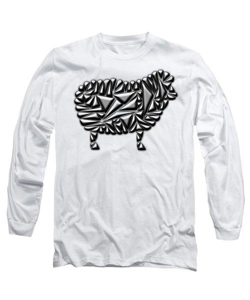 Metallic Sheep Long Sleeve T-Shirt by Chris Butler