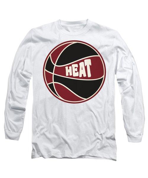 Miami Heat Retro Shirt Long Sleeve T-Shirt by Joe Hamilton
