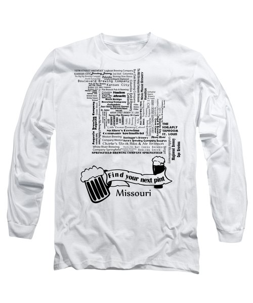 Micro Brew Missouri Long Sleeve T-Shirt by Ryan Burton