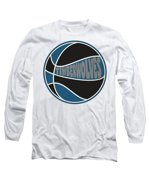 Minnesota Timberwolves Retro Shirt Long Sleeve T-Shirt by Joe Hamilton