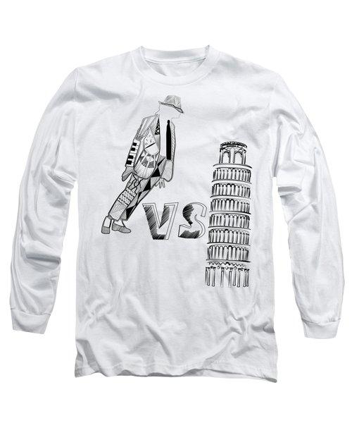 Mj Vs Pisa Long Sleeve T-Shirt by Serkes Panda