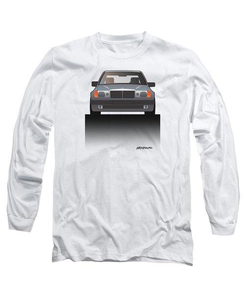 Modern Euro Icons Series Mercedes Benz W124 500e Split  Long Sleeve T-Shirt by Monkey Crisis On Mars