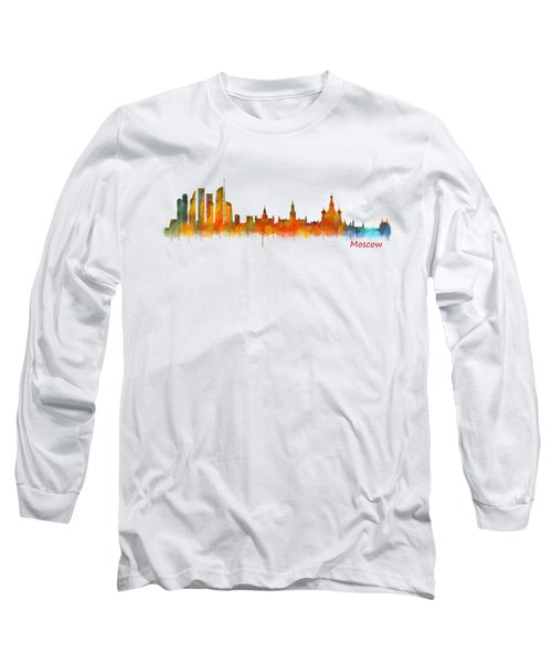 Moscow City Skyline Hq V2 Long Sleeve T-Shirt by HQ Photo