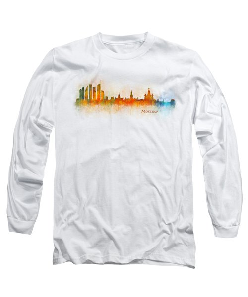 Moscow City Skyline Hq V3 Long Sleeve T-Shirt by HQ Photo