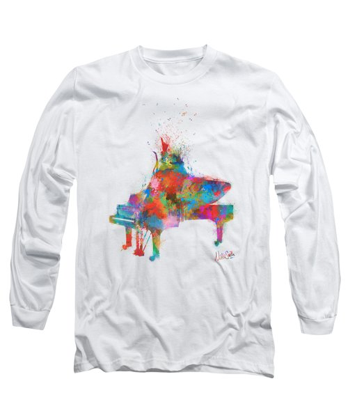 Music Strikes Fire From The Heart Long Sleeve T-Shirt by Nikki Marie Smith