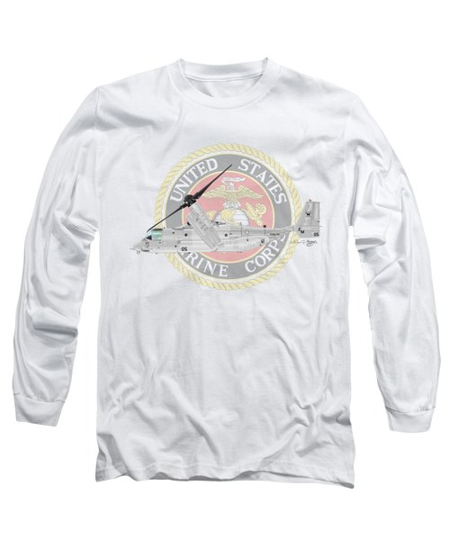Mv-22bvmm-261 Long Sleeve T-Shirt by Arthur Eggers
