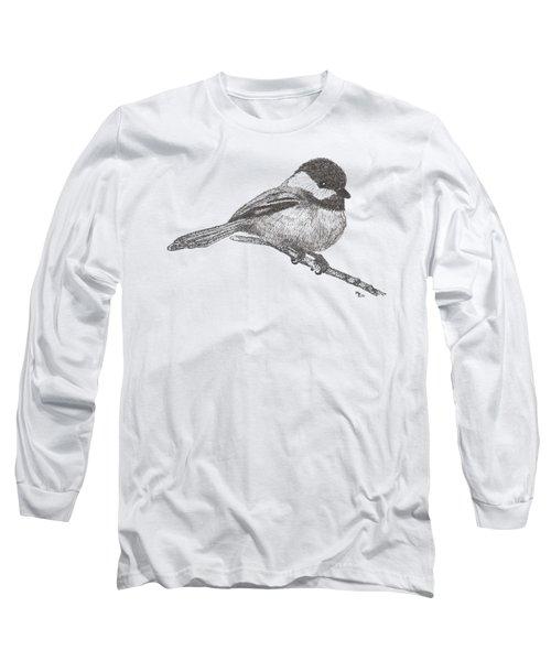 My Little Chickadee-dee-dee Long Sleeve T-Shirt by Mary-Ellen Arsenault