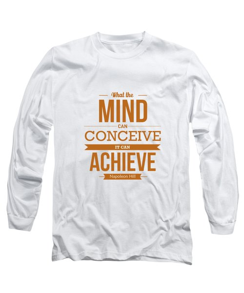 Napoleon Hill Typography Art Quotes Poster Long Sleeve T-Shirt by Lab No 4 - The Quotography Department