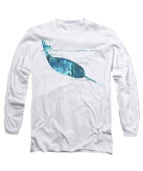 Narwhal Long Sleeve T-Shirt by Mordax Furittus