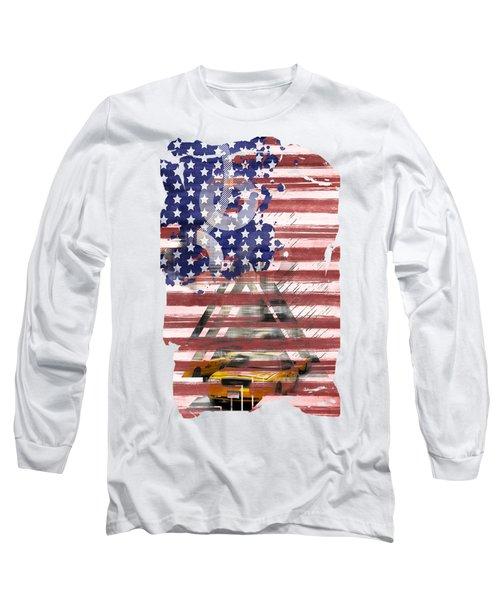 New York City Geometric Mix No. 8 Long Sleeve T-Shirt by Melanie Viola